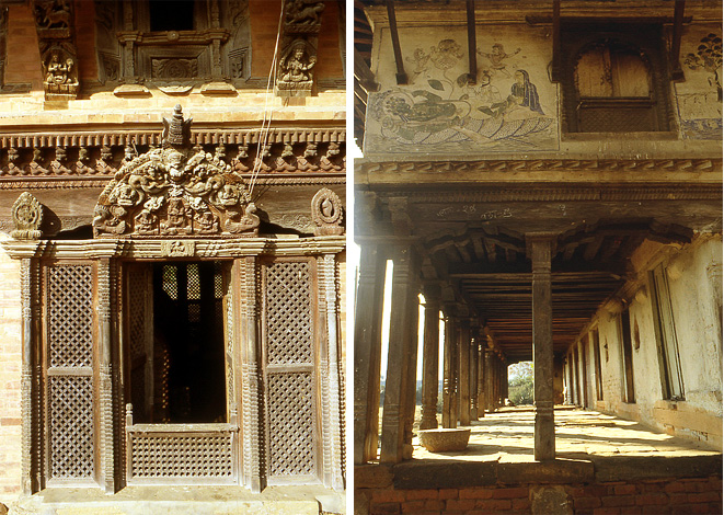 panauti nepal sculptures en bois