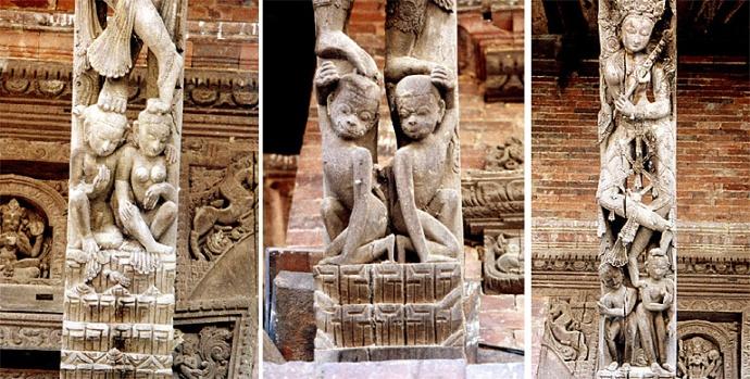 panauti sculptures en bois nepal
