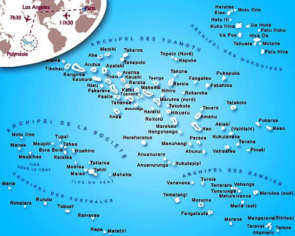 carte polynesie