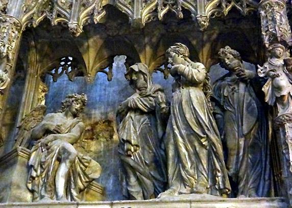 Chartres annonciation cloture du choeur