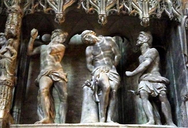 Chartres christ fouette cloture du choeur