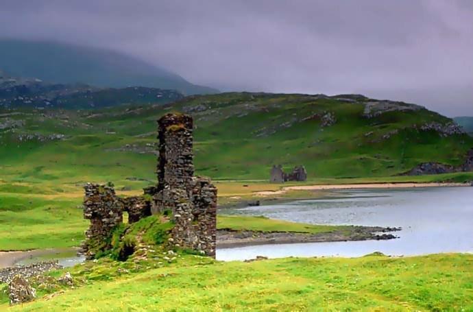 ecosse highlands ardvreck castle loch assynt