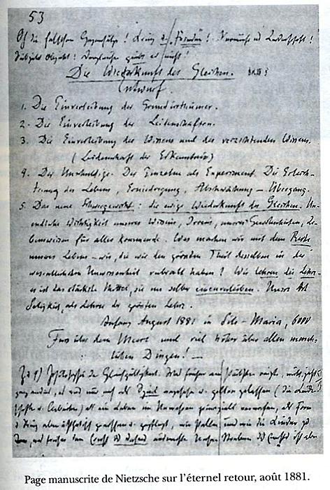 nietzsche page manuscrite