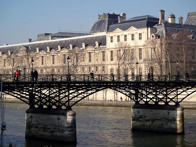 paris passerelle des arts sans cadenas janvier 2016