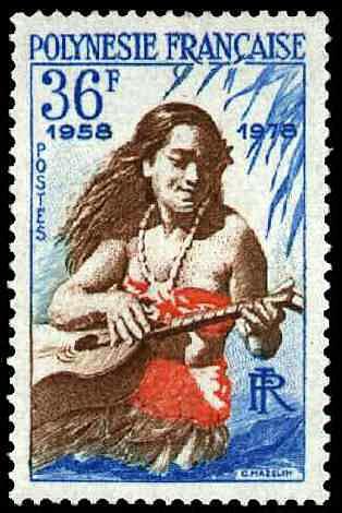 timbre polynesie francaise fille guitare