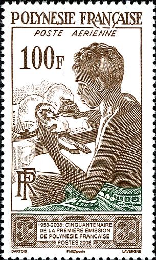 timbre polynesie francaise garcon