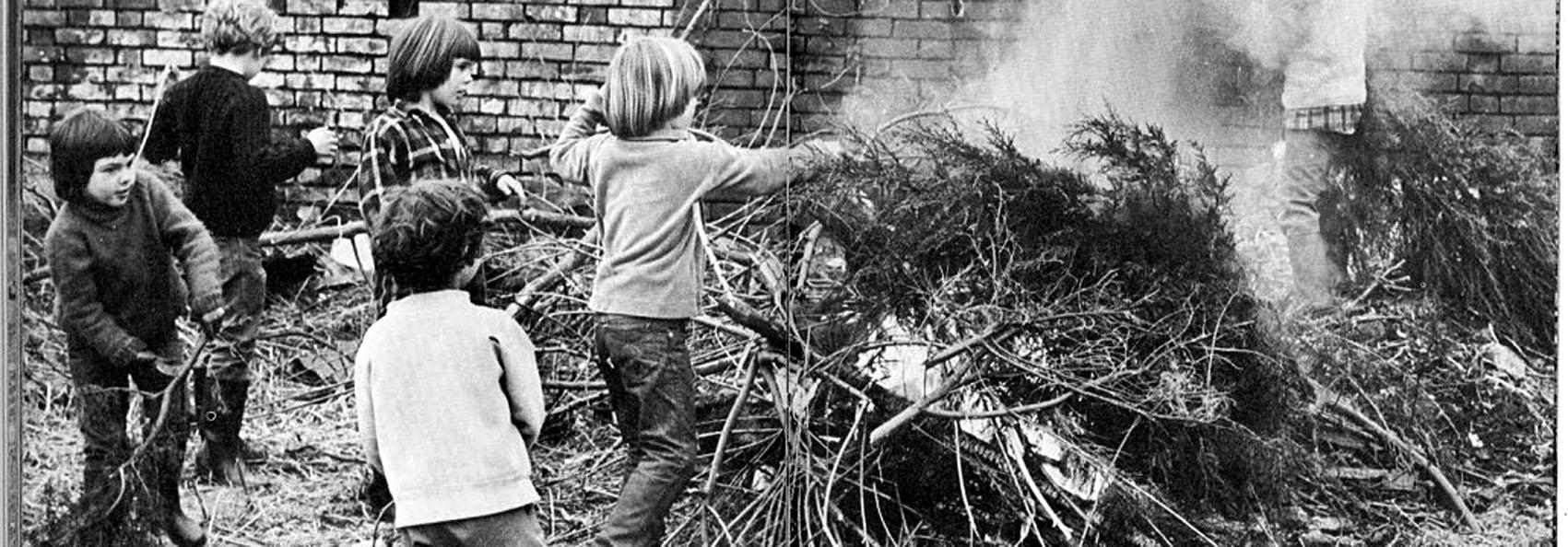 enfants de summerhill faire un feu