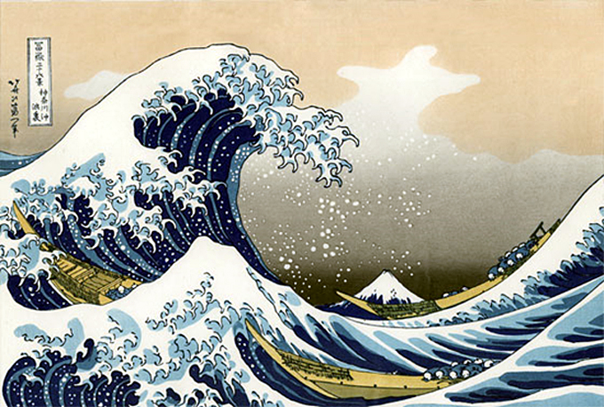 hokusai la vague