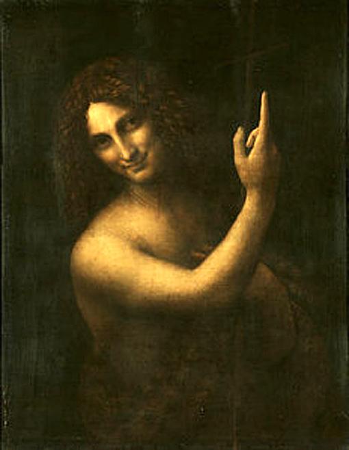 leoard de vinci Saint Jean-Baptiste salai