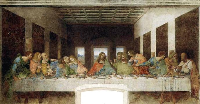 leonard de vinci santa maria delle grazie cene