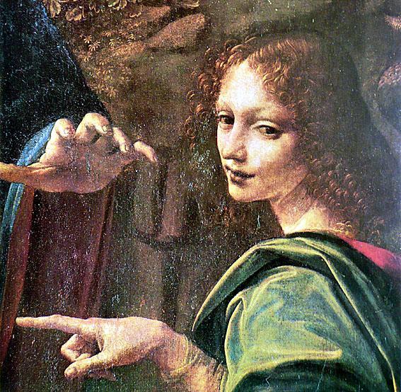 Léonard de Vinci ange cecilia Vierge aux rochers