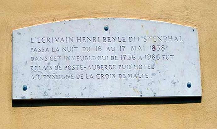 stendhal plaque de sejour 1838