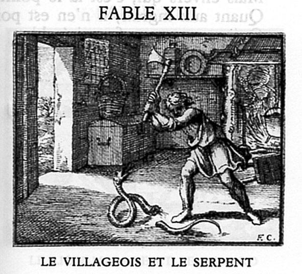 jean de la fontaine le villageois et le serpent
