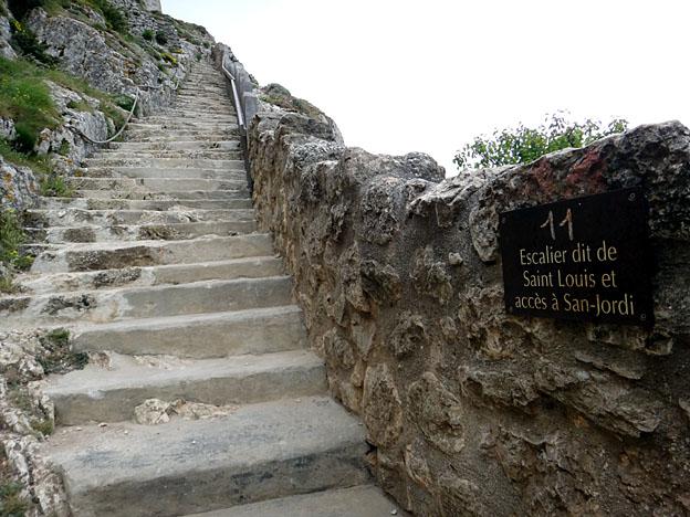 peyrepertuse escalier de st louis