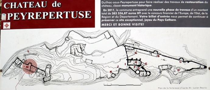 peyrepertuse plan du chateau