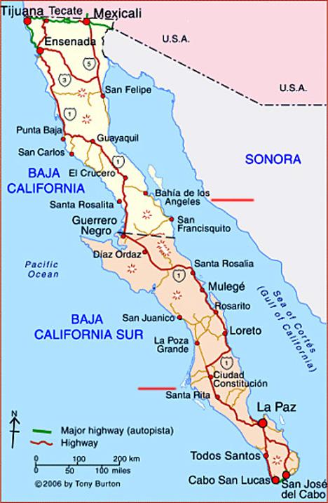 baies a kayak Basse Californie