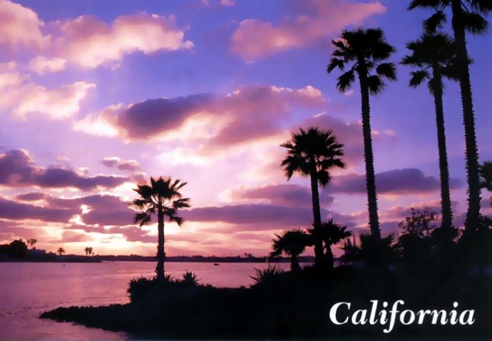Californie coucher de soleil