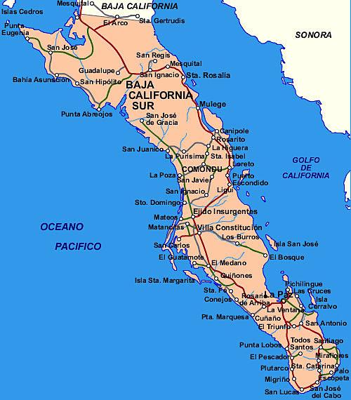 carte Basse Californie