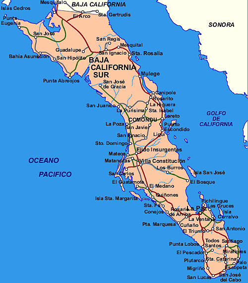 carte Basse Californie