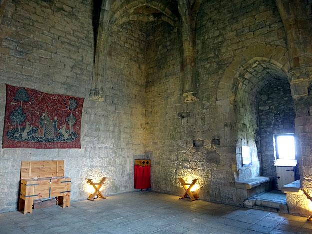 chateau de puivert salle des gardes