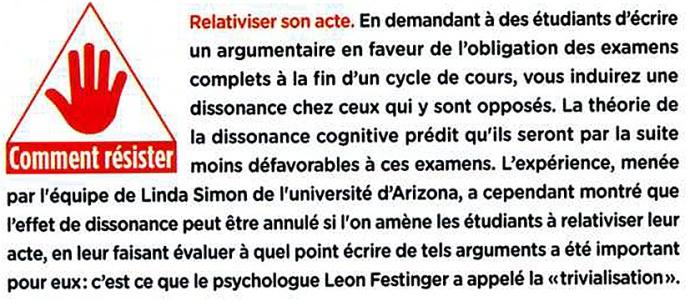 dissonance cognitive