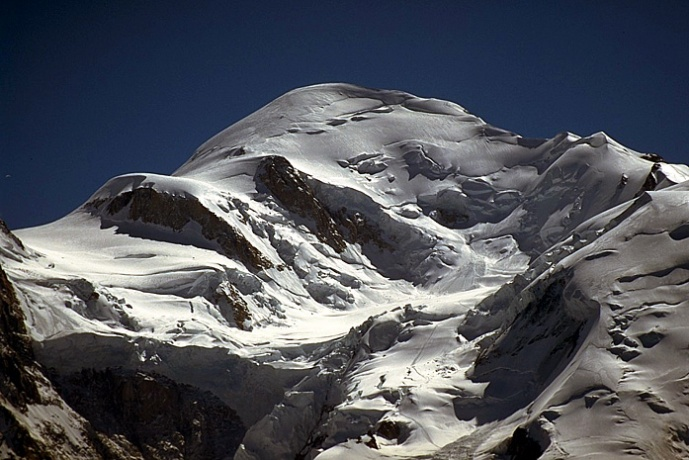 mont blanc depuis refuge des grands mulets