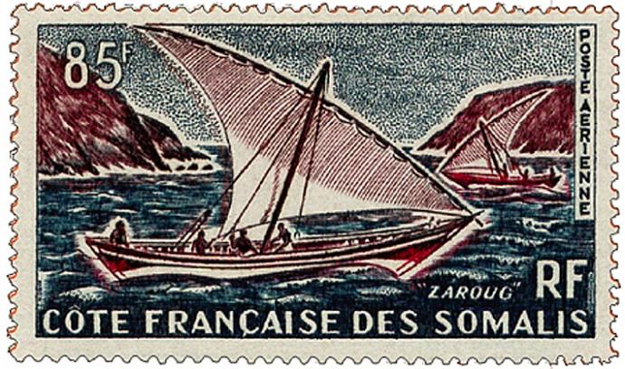 timbre sambouk cote francaise des somalis