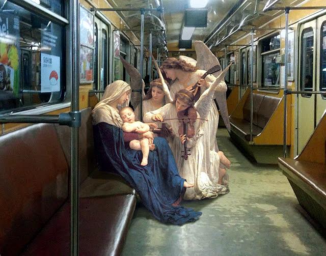 vierge a l enfant dans le metro alexey kondakov