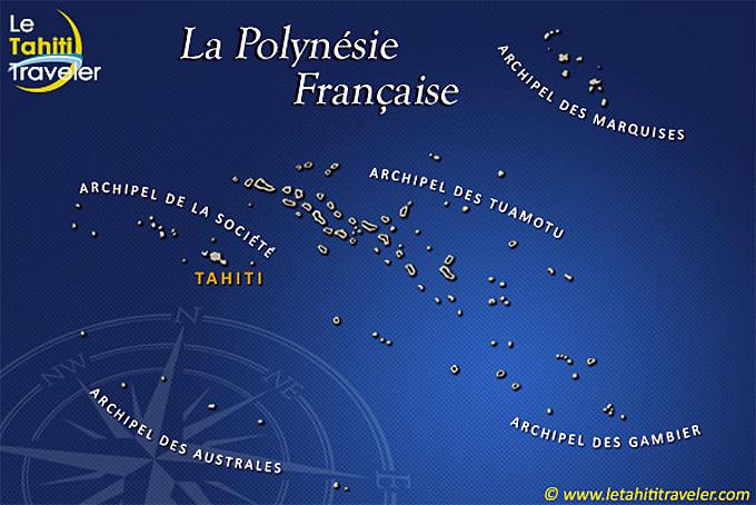 carte polynesie francaise