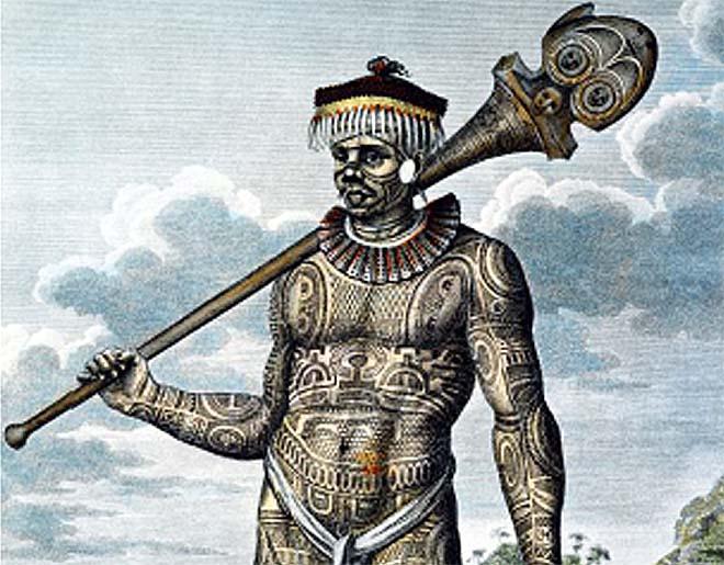 homme tatoue de nuku hiva 1804