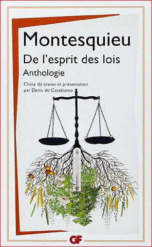 montesquieu de l esprit des lois anthologie