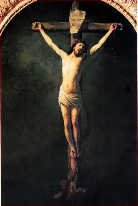 Rembrandt Christ en croix 1631