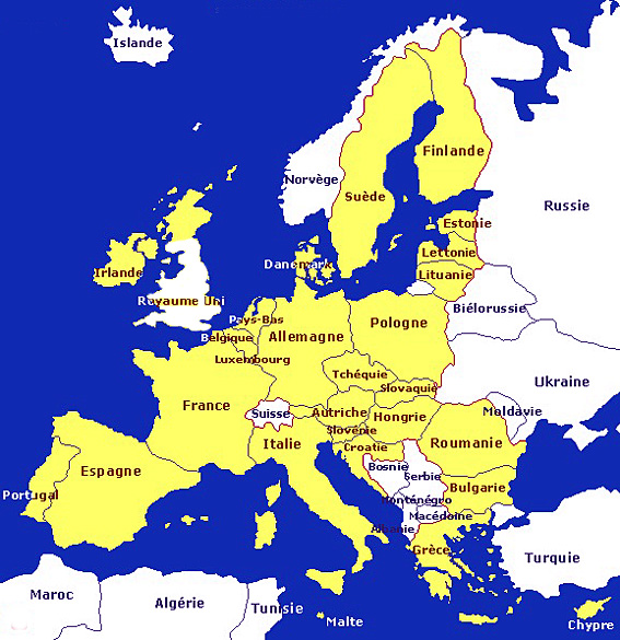 carte union europeenne sans uk