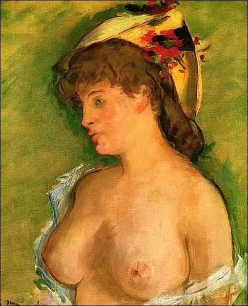 edouard manet blonde aux seins nus 1875