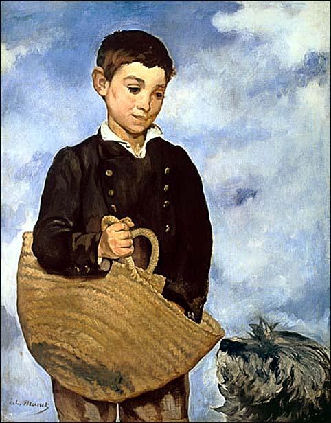 edouard manet enfant au chien 1862