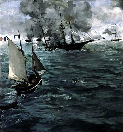 edouard manet le combat du kearsarge et de l alabama 1864