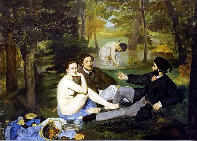 edouard manet le dejeuner sur herbe 1863