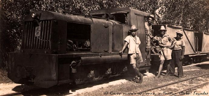 Makatea train du phosphate et son équipage