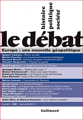 revue le debat 190 mai 2016