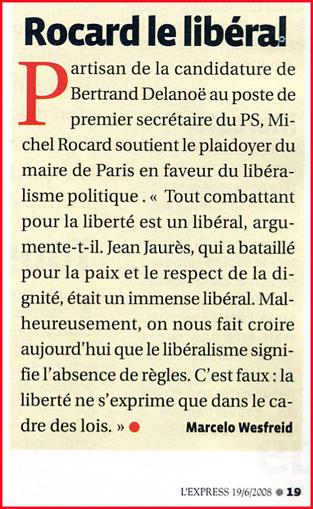 Rocard libéral 2008 06