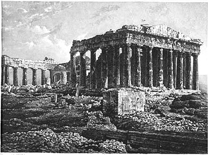 1839 athenes parthenon