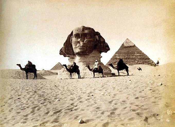 1849 sphinx egypte maxime du camp