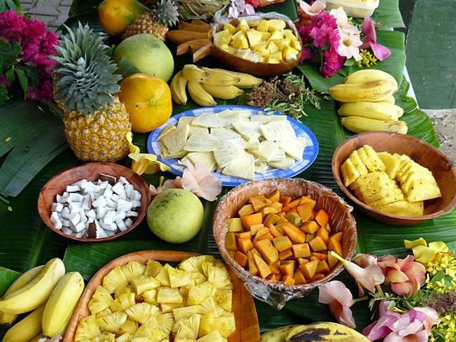 taro et fruits tahiti