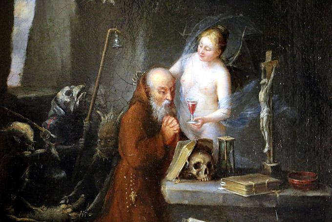 tentation de saint antoine ecole hollandaise 18e